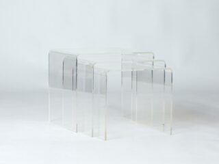 Lucite Acrylic Nesting tables